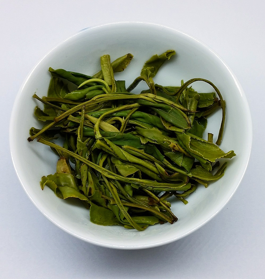 Huangshan-Maofeng-Green-Tea-Wet-Leaves