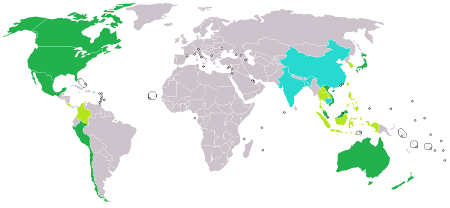 Potential TPP partner nations