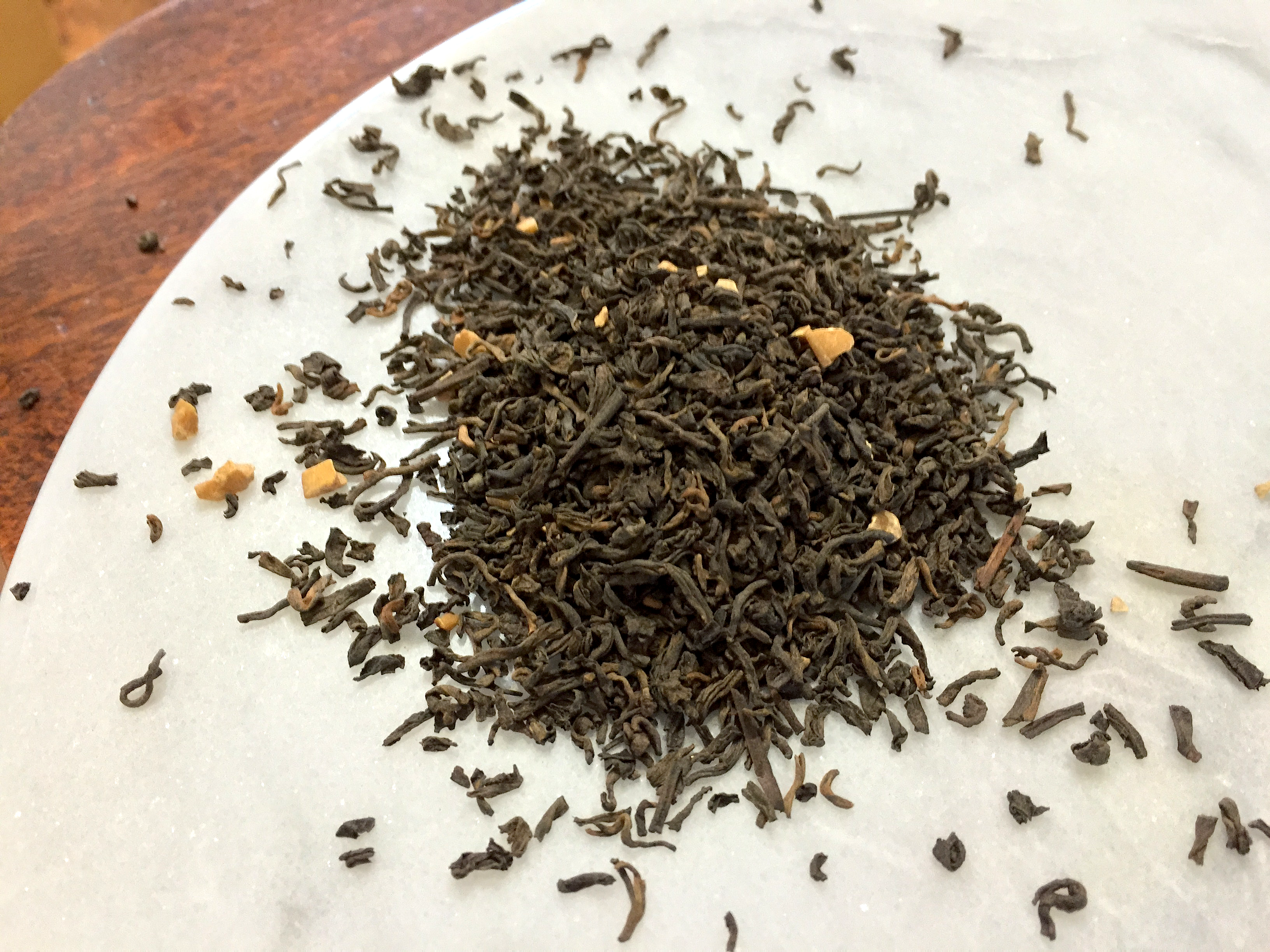 Caramel Pu-erh (ChocolaTea): loose leaf by Jocilyn Mors is licensed under a Creative Commons Attribution-ShareAlike 4.0 International License.