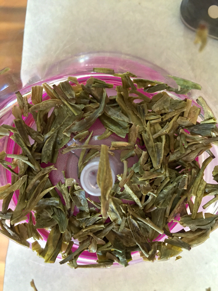 Dragonwell (TeaVana): spent by Jocilyn Mors is licensed under a Creative Commons Attribution-ShareAlike 4.0 International License.