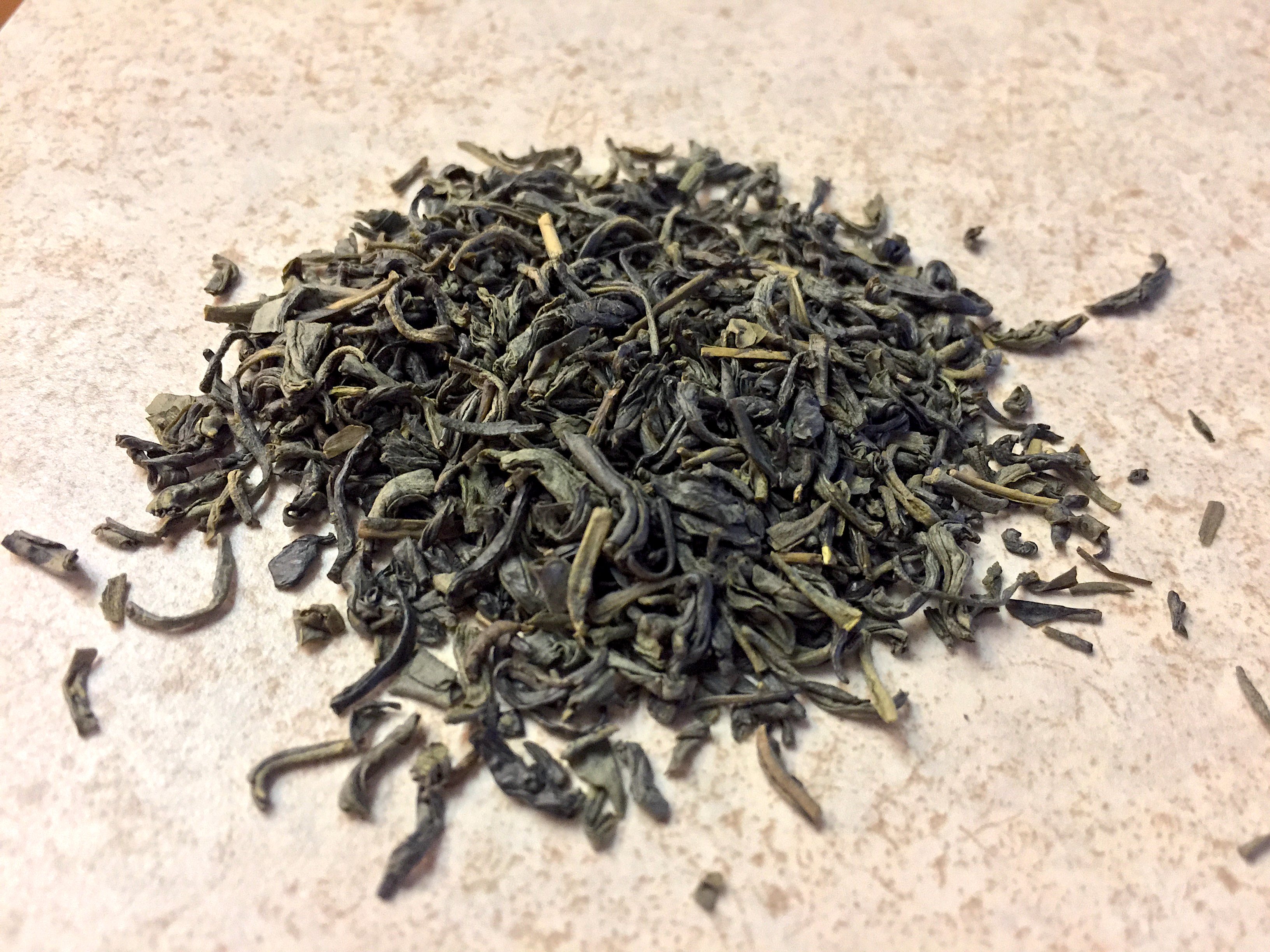 Photograph of Chun Mee (Arbor Teas) ~ loose leaf by Jocilyn Mors is licensed under a Creative Commons Attribution-NonCommercial-ShareAlike 4.0 International License.
