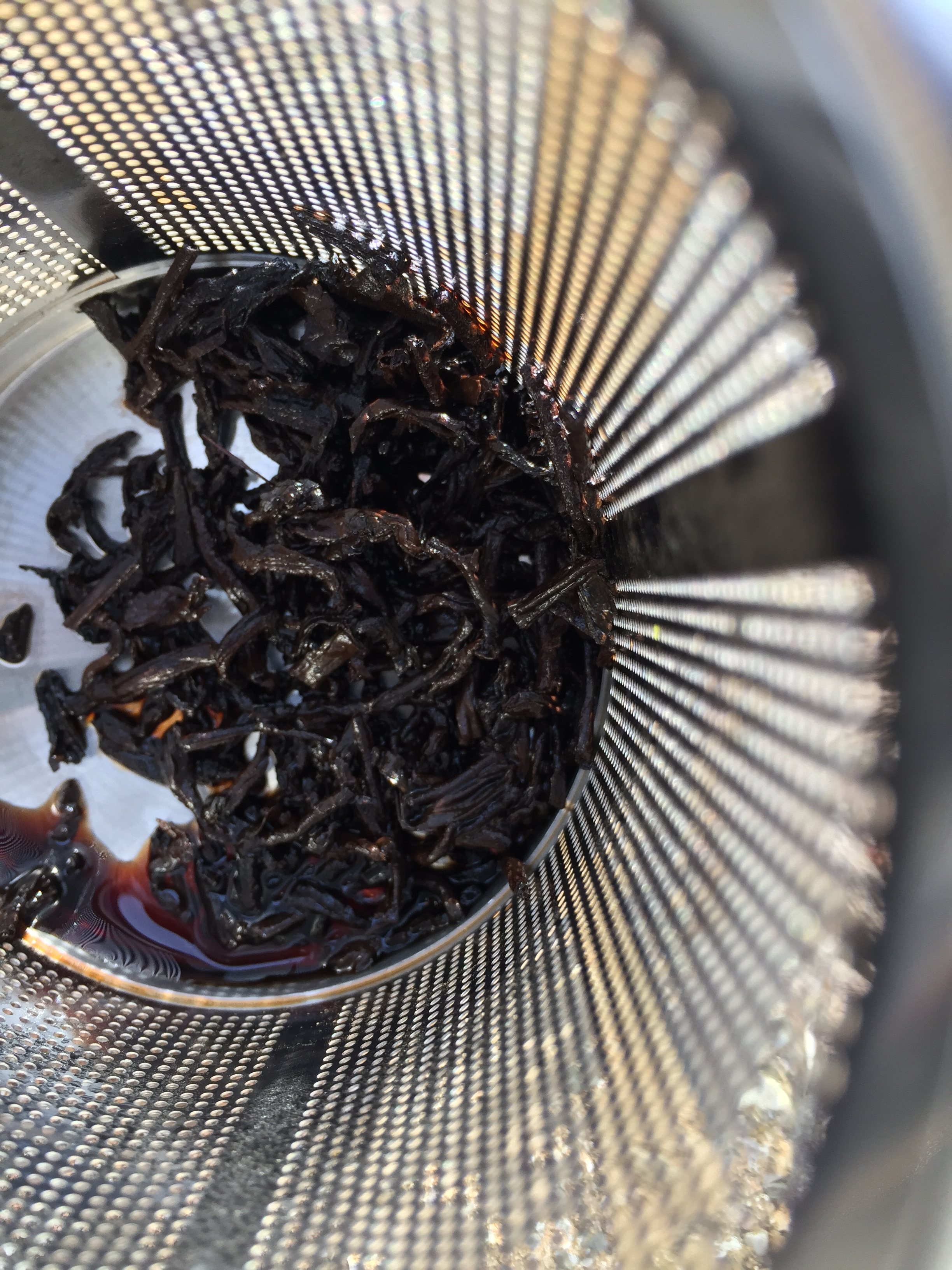 Photograph of China Aged Pu-Erh Celestial Tribute (Upton) ~ spent by Jocilyn Mors is licensed under a Creative Commons Attribution-NonCommercial-ShareAlike 4.0 International License.