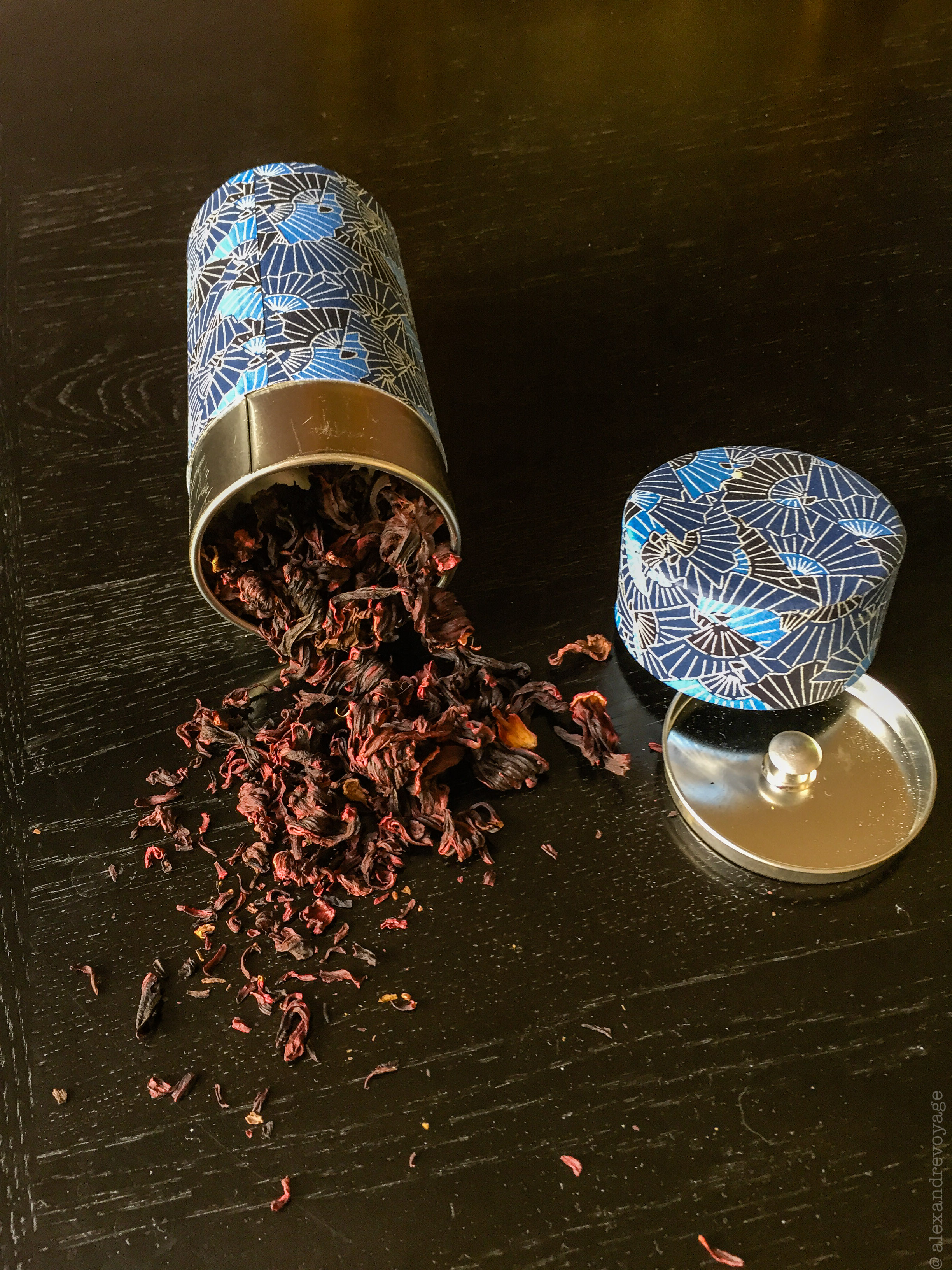Image of loose leaf Hibiscus tea